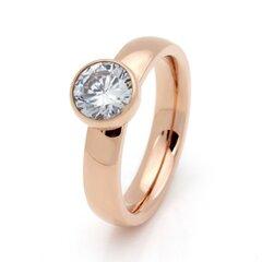 Rosekleurige stainless steel ringen