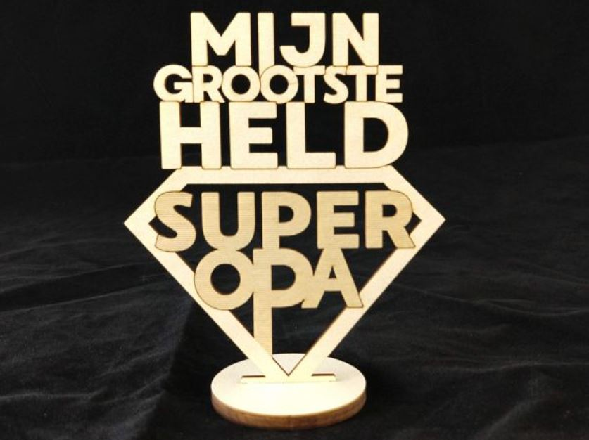 Beste Tekst bord : Mijn grootste held super opa - HIPTREND KD-44