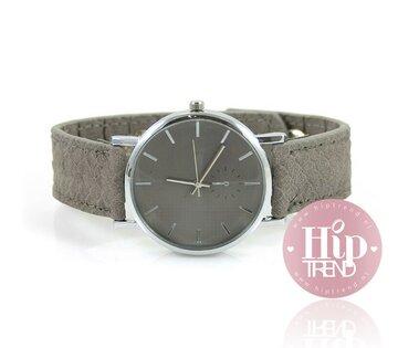 Snake horloge grijs