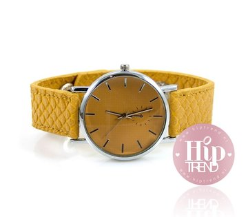 Snake horloge geel