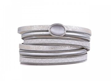 Wikkel armband stone zilver