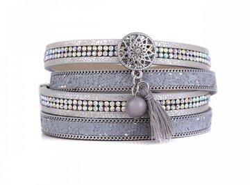 Wikkel armband star strass zilver