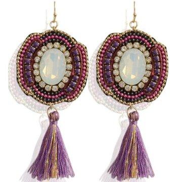 Earrings Todu -purple-