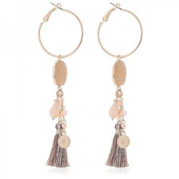 Earrings Bangle -brown-