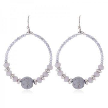 Earrings Joy -grey-