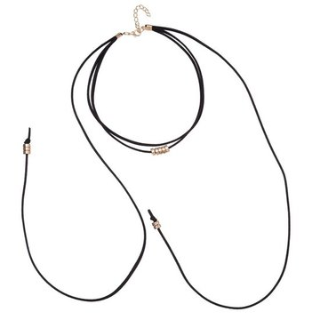 Choker necklace Zwart-goud