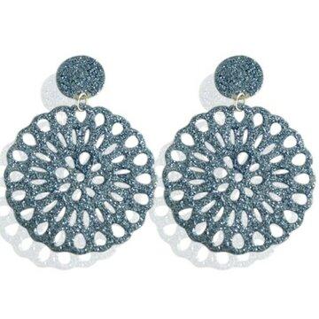 Earrings Shine -blue-