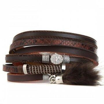 Armband lovely bruin