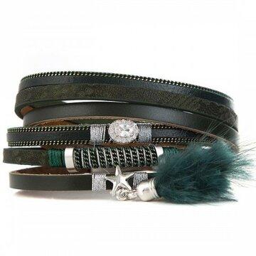 Armband lovely donker groen