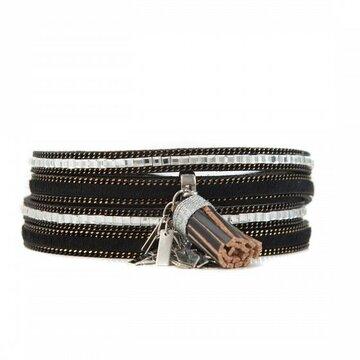 Armband sparkling zwart