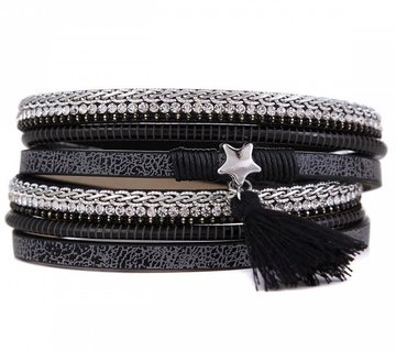 Armband shine star black