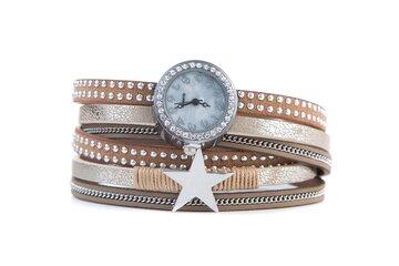 Horloge armband star creme