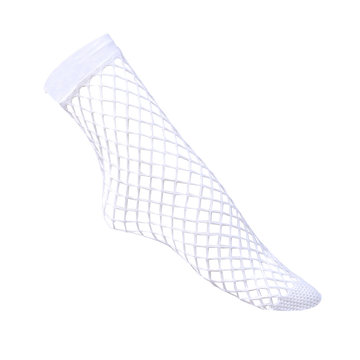 Fishnet socks white