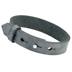 Leren heren armband antraciet zwart