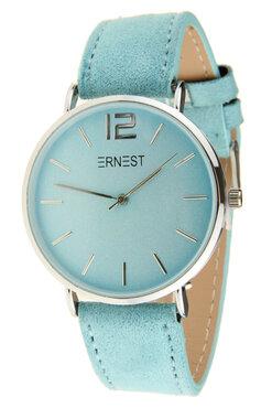 Ernest horloge zilver licht blauw