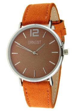 Ernest horloge zilver oranje