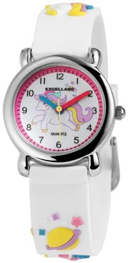 Kinder horloge unicorn wit