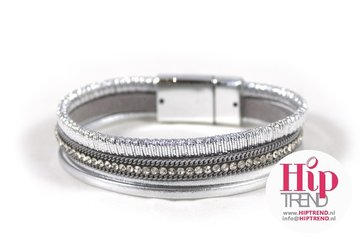 Mix & Match armband shining zilver