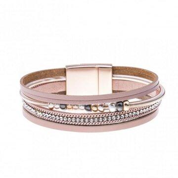 Mix & Match armband spiraal sparkling roze