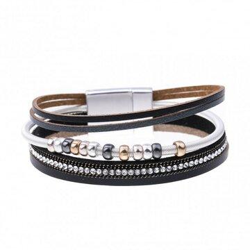 Mix & Match armband spiraal sparkling zwart