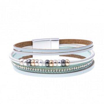 Mix & Match armband spiraal sparkling licht blauw