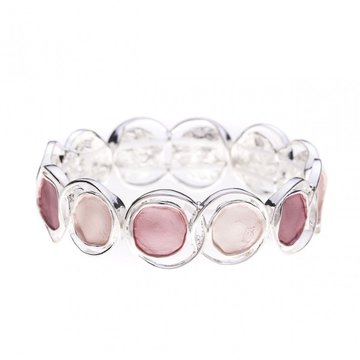 Luxe armband cirkel roze