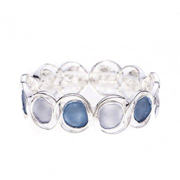 Luxe armband cirkel blauw