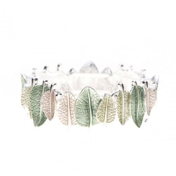 Luxe armband bladeren groen