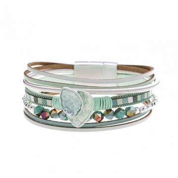 Armband beautiful mint groen