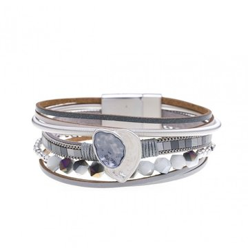Armband beautiful licht grijs