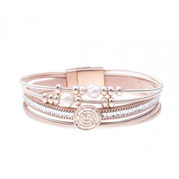 Armband pearl roze