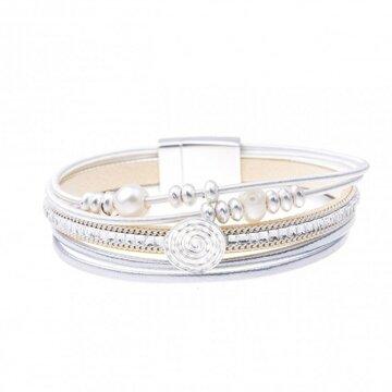 Armband pearl beige
