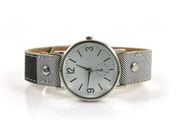 Geruit horloge zwart/wit