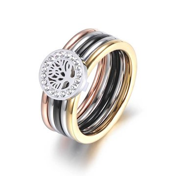 Levensboom ring stainless steel