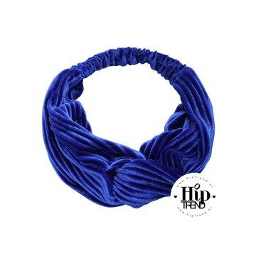 haarband velvet blauw