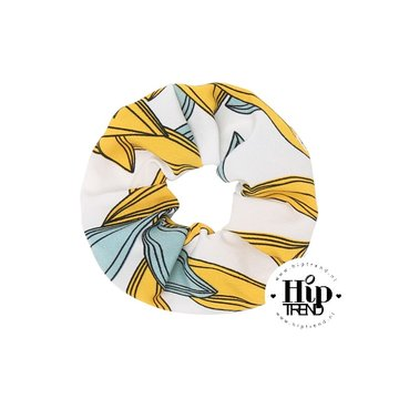 Scrunchie hawai geel