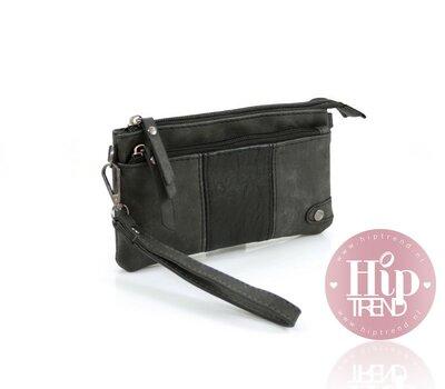 Zwart portemonnee en telefoontasje in één
