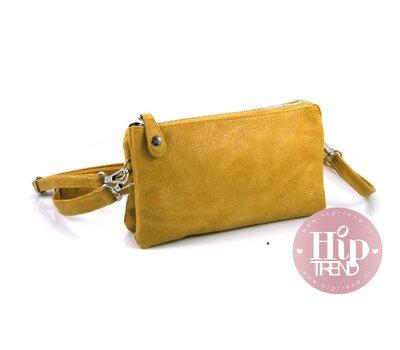 Handigste tasje ooit Schouder en heup tas geel