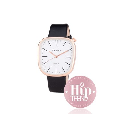 Horloge vierkant rosé zwart