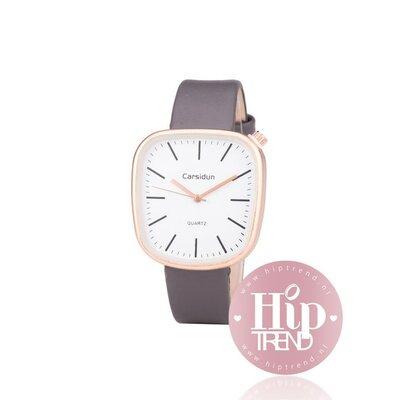 Horloge vierkant rosé grijs