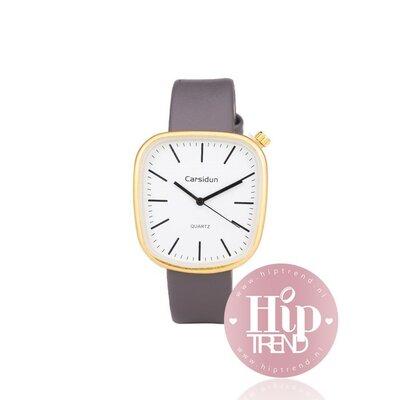 Horloge vierkant goud grijs
