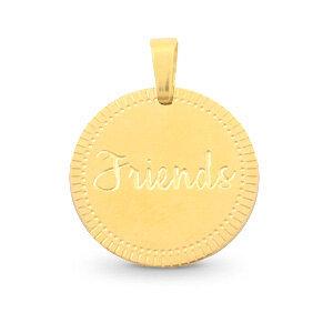 Bedel van stainless steel (RVS) Friends goud