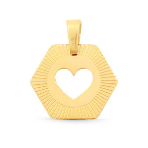 Bedel van stainless steel (RVS) hart goud