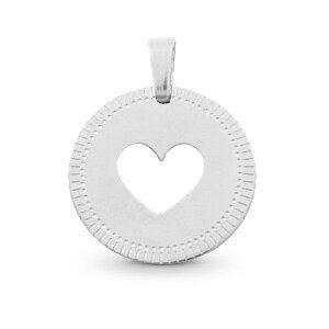 Bedels van stainless steel (RVS) hart zilverkleurig