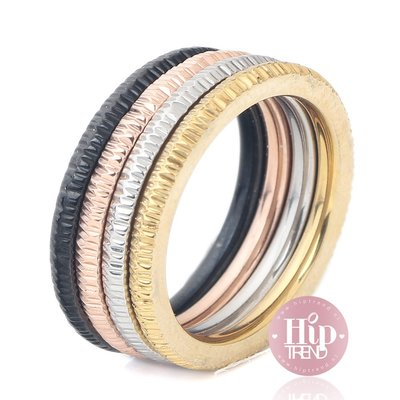 4 kleuren ringen set