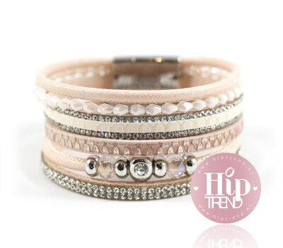 Licht Roze armbanden set