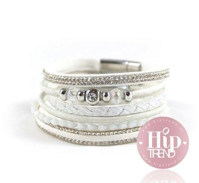 Witte armbanden set