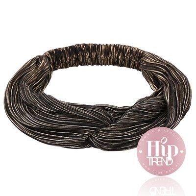 haarband shine zwart goud