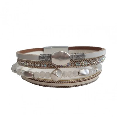 Mix & Match armband wit sparkling