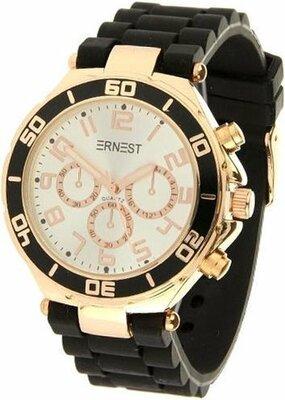 """Ernest horloge """"Rosé"""" zwart met wit"""